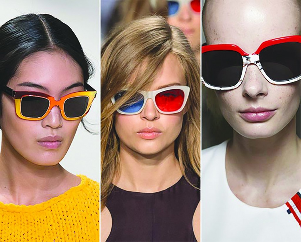 Красочные, сочные оправы для женских солнцезащитных очков