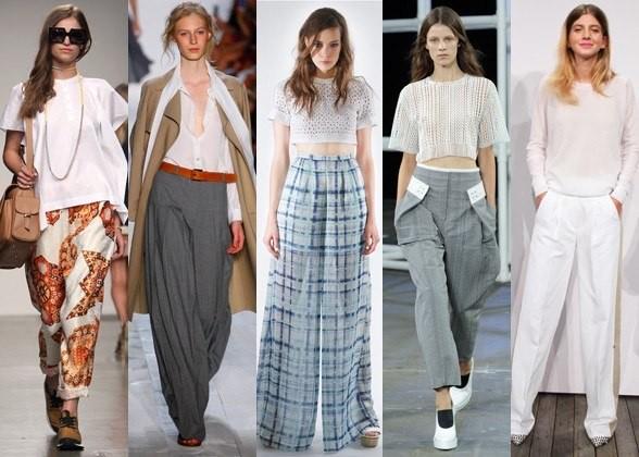 Широкие брюки и юбка-брюки в 2016