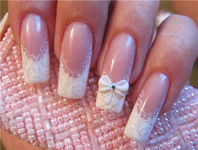 Ногти нарощенные на свадьбу