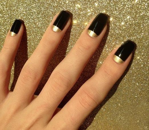 Ногти 2016 фото черный френч