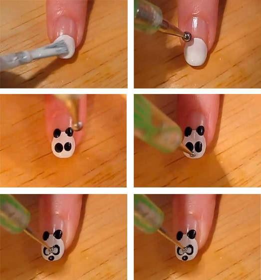 Рисунки Дотсом на ногтях фото