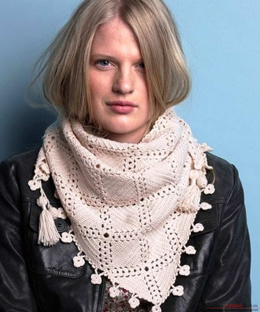 Как красиво завязать шарф платок на пальто