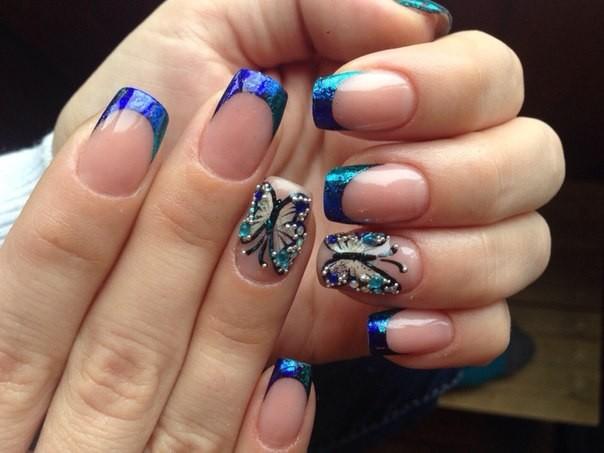 дизайн ногтей фото френч с рисунком фото