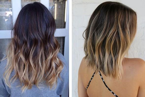 Окраска волос балаяж фото на средние