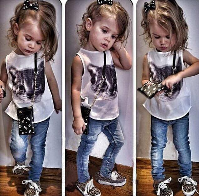 Детская модная девочек