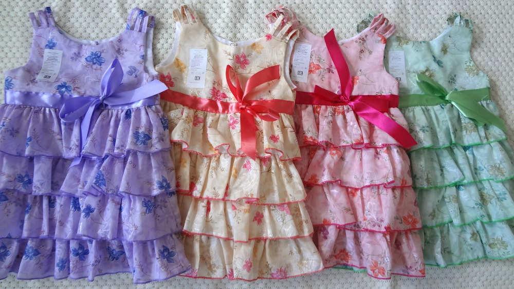 Сшить детские платья с воланами
