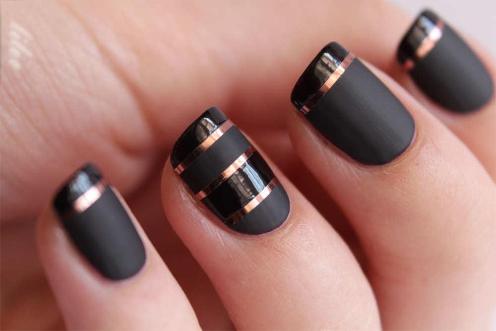 Дизайн ногтей матовым гель лаком