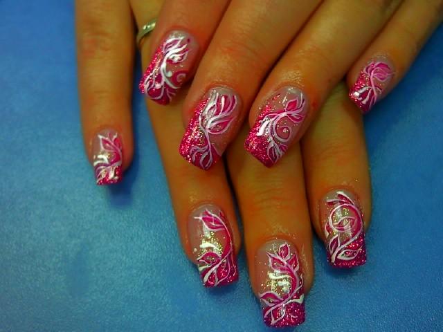 Гель роспись на ногтях