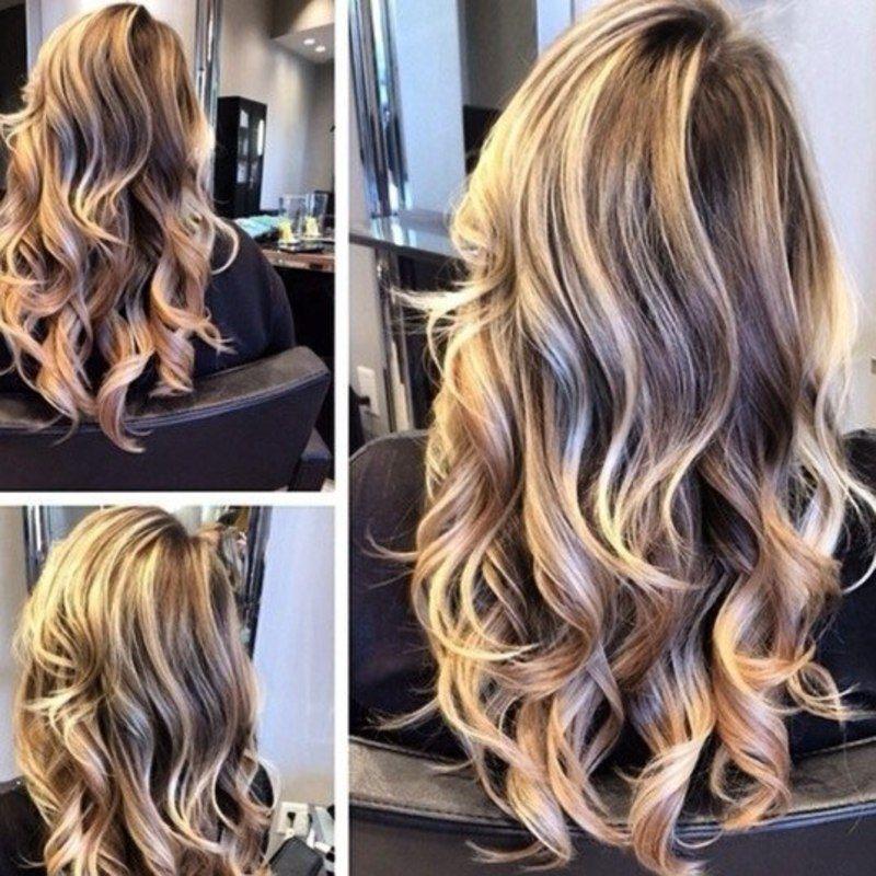 окрашивание на длинные волосы 2016 фото