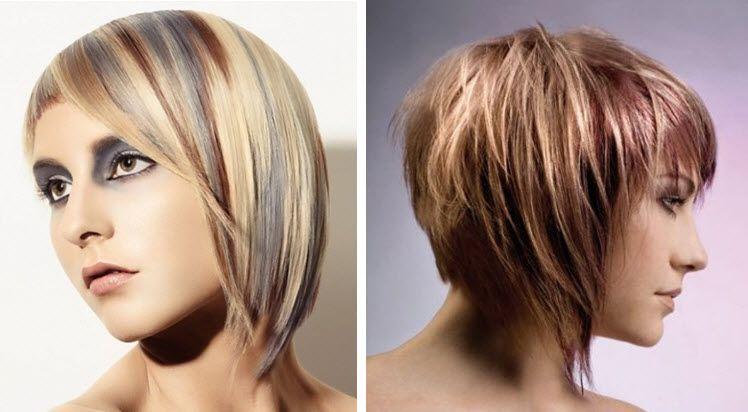 Фото покраска волос в два цвета на короткие волосы