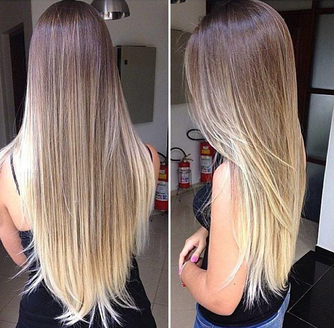 Модное окрашивание 2016 на длинные волосы фото
