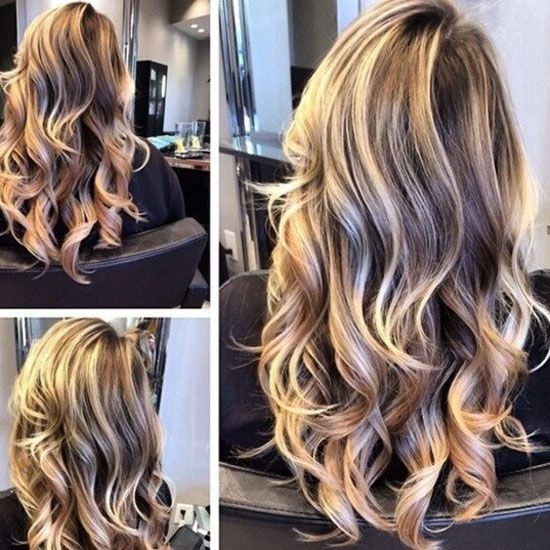 Колорирование волос длинных