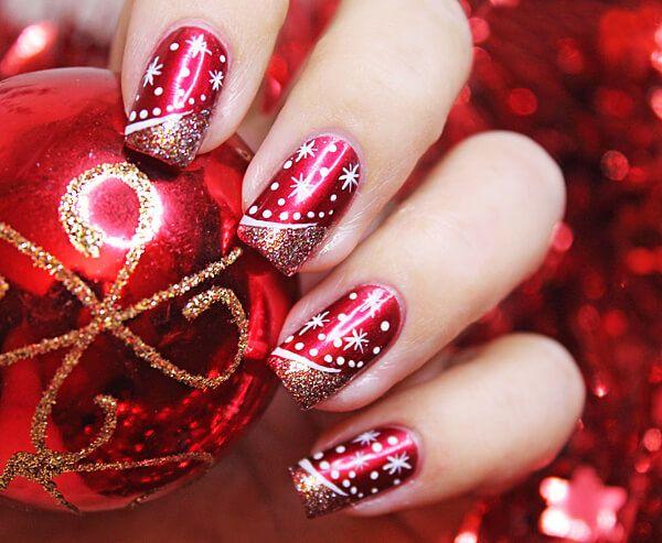 Дизайн ногтей на новый год 2017 фото гель
