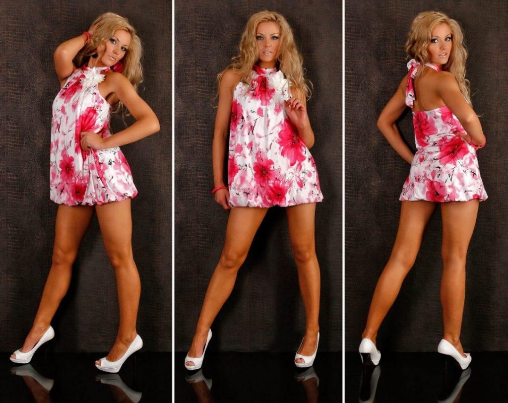 Модные короткие платья на девушках
