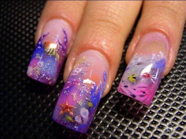 Дизайн ногтей аквариумный 2017 фото новинки