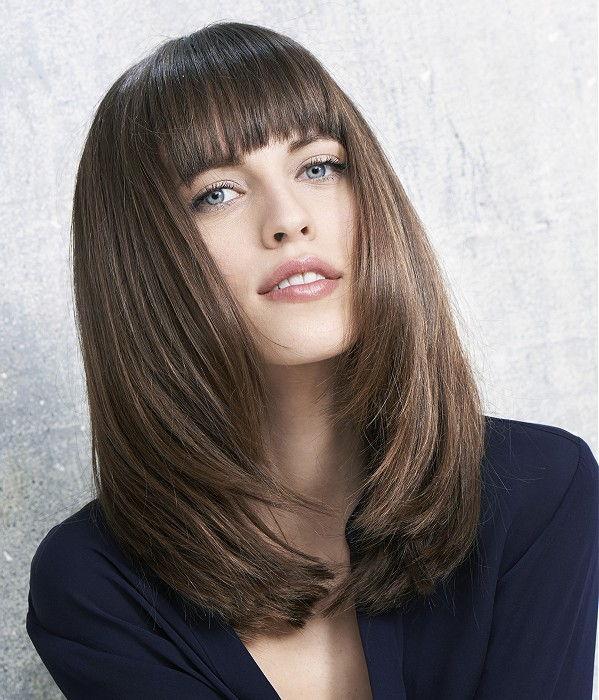 Модные стрижки 2017 фото на средние волосы с челкой женские за 30