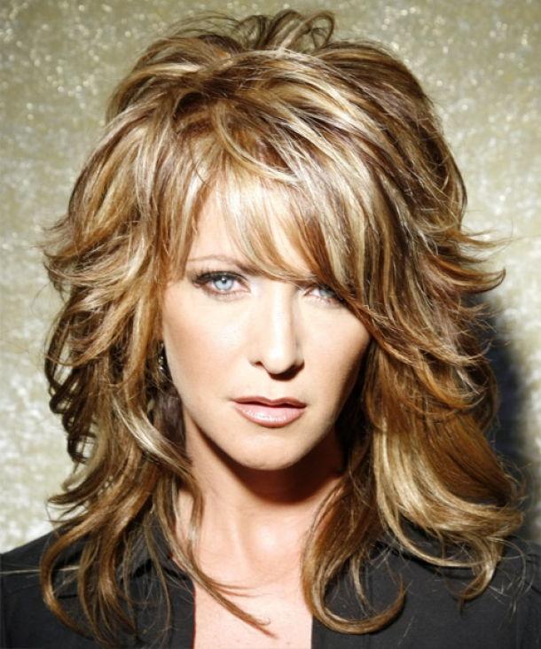 Причёска каскад фото на средние волосы с челкой укладка
