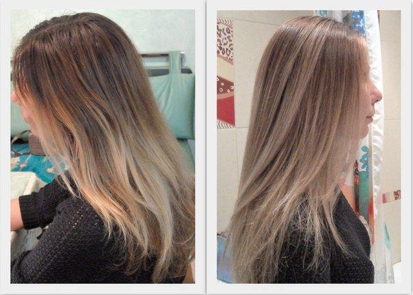 Окрашивание балаяж на русые волосы фото