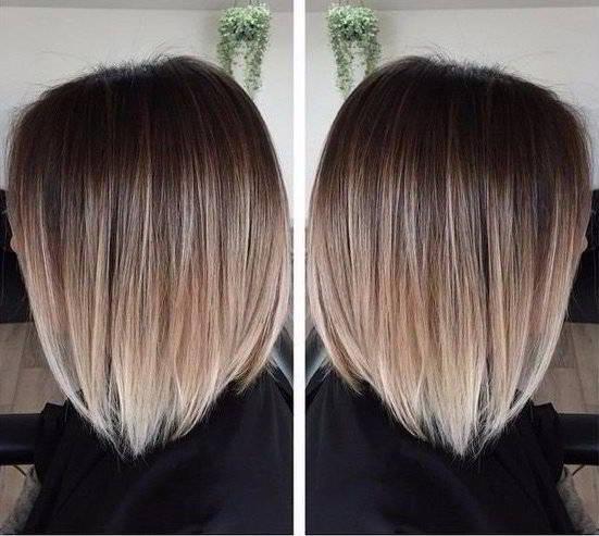 Модное окрашивание 2017 на средние волосы фото