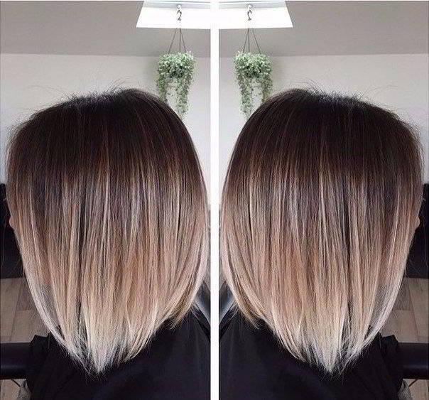 Покраска волос на каре 2017