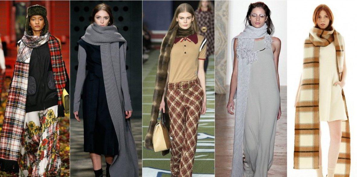 Модный шарф 2017