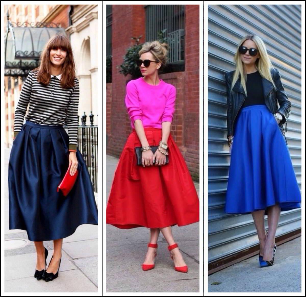 Направление моды юбки на 2017 год