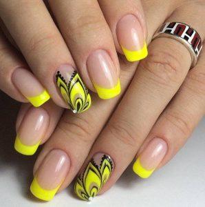 Наращивание ногтей фото новинки 2016 френч разных цветов