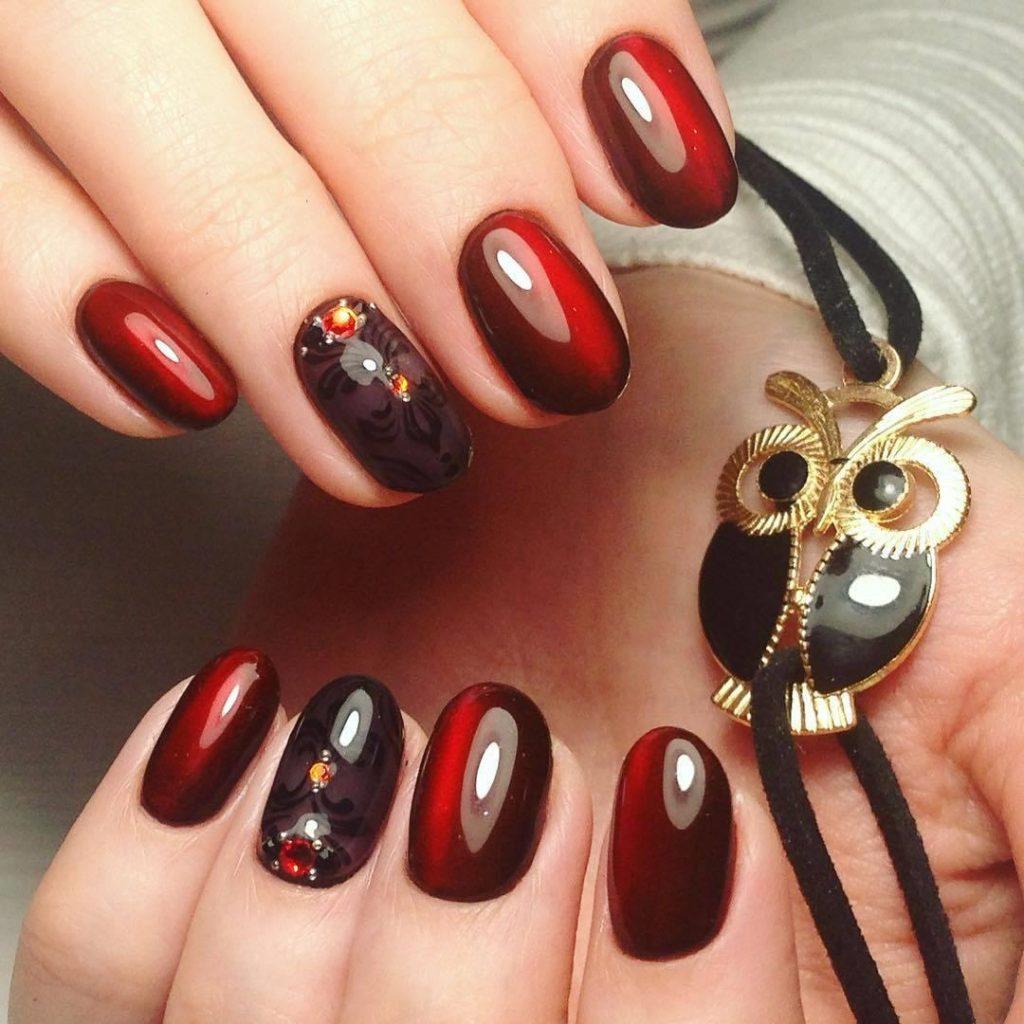Бордо ногти дизайн фото