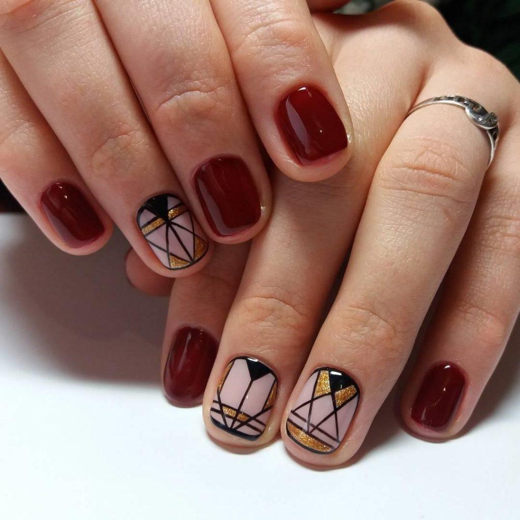 Модные рисунки на короткие ногти фото