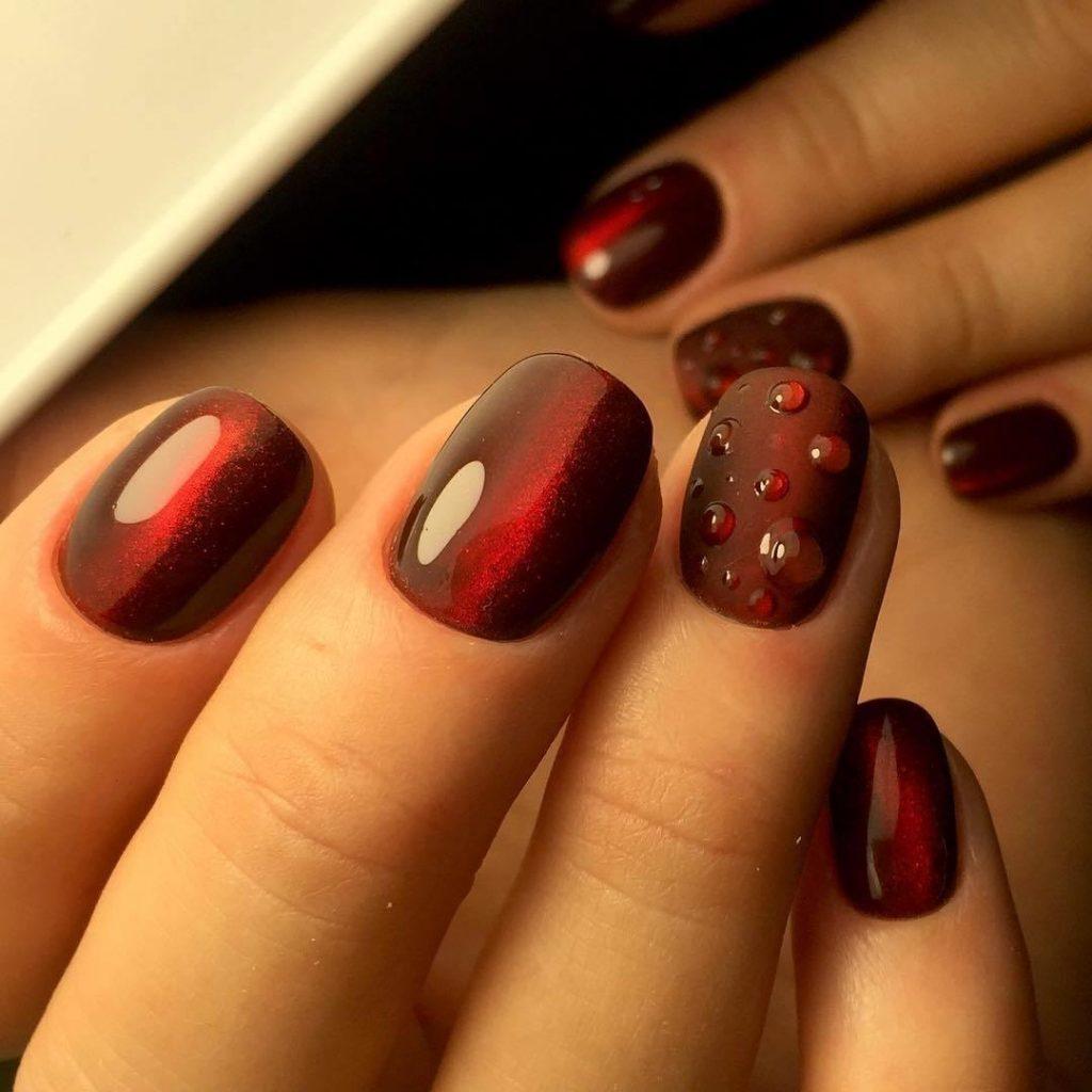 Дизайн ногтей бордовые тона фото