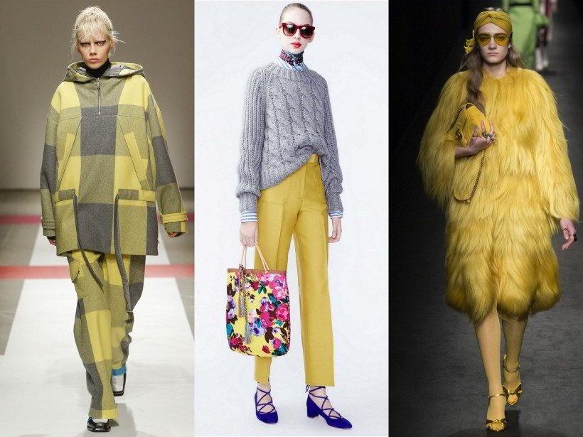Модные цвета в одежде осень 2016 года и зима 2017