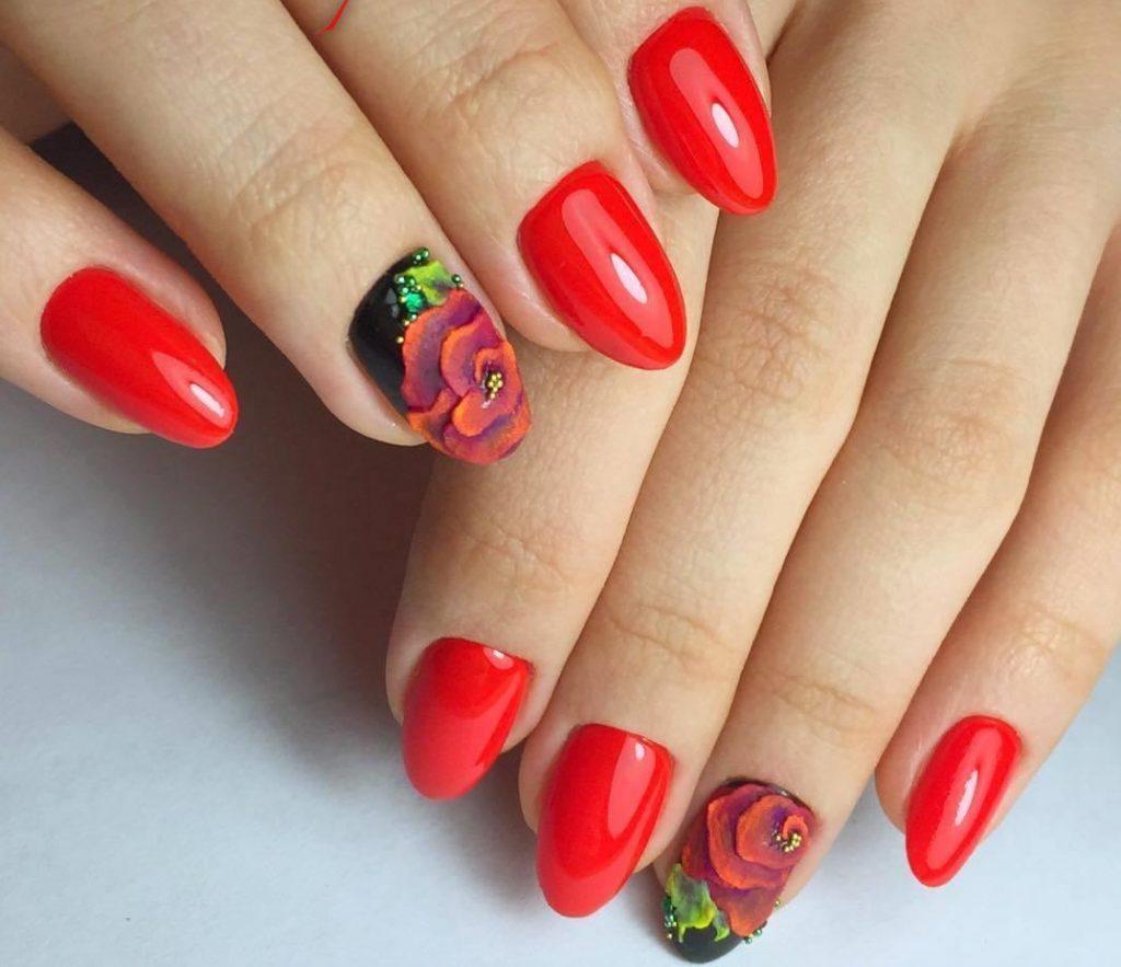 Дизайн красных ногтей 2017 новинки весна