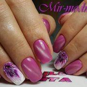 Гель лак розовый дизайн фото