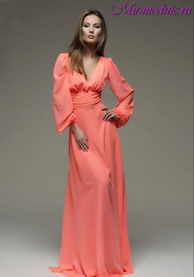 Сшить длинное платье в пол с рукавами 2