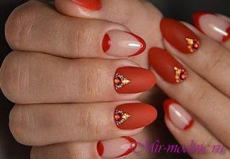 Красные ногти 2017 фото