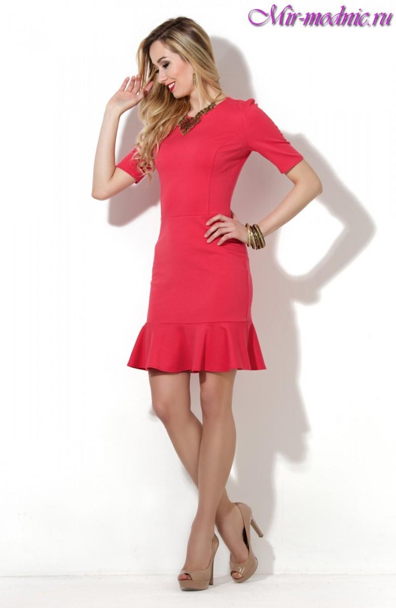 Коралловое платье с чем носить фото