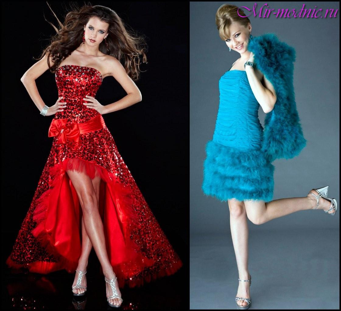 Платья на новый год 2017 году