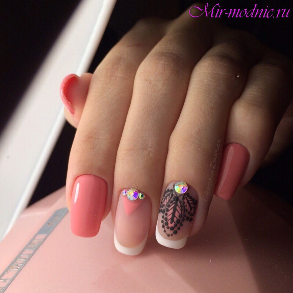 Дизайн ногтей френч на лето