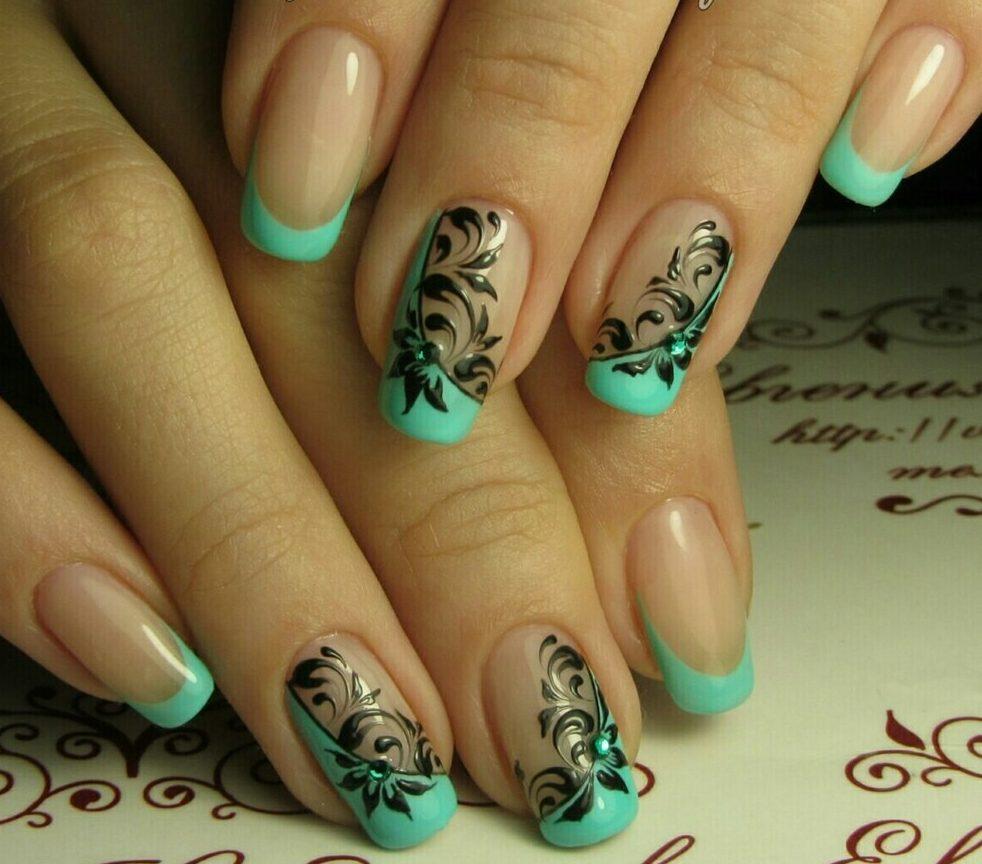 Рисунки на ногтях френч с рисунком фото весна лето