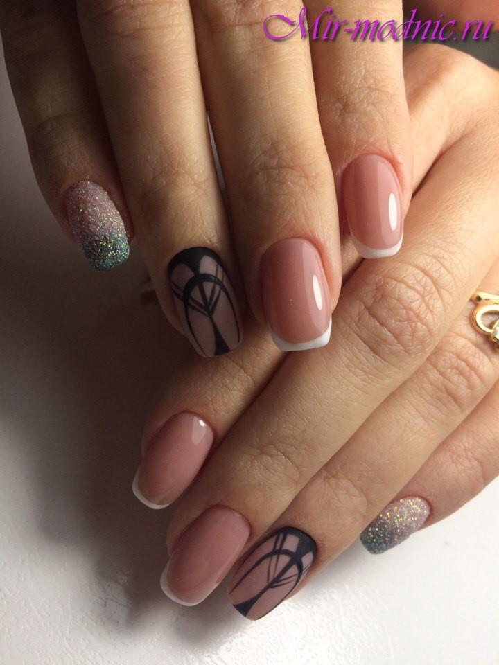 Дизайн ногтей 2017 фото новинки лето френч с рисунком