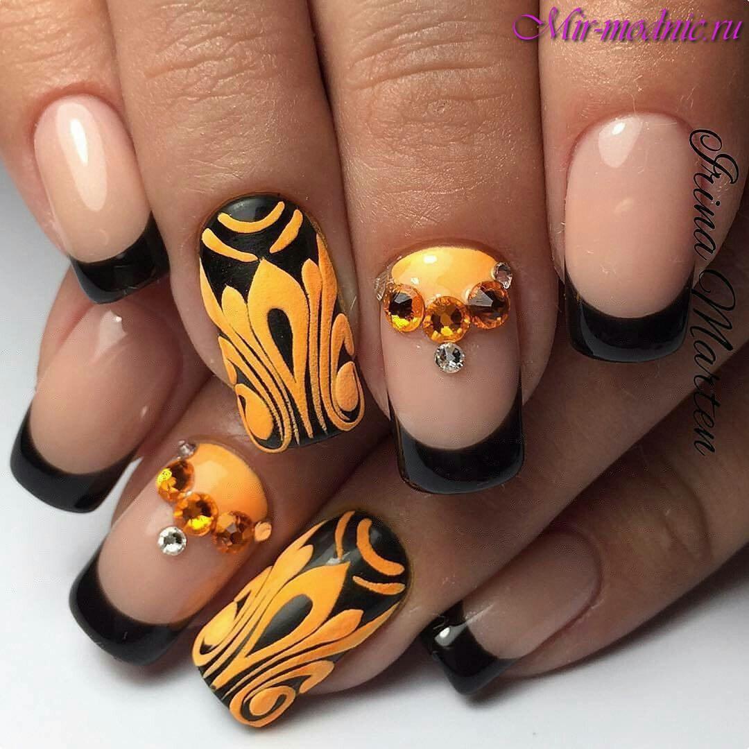 Френч цветной ногти дизайн