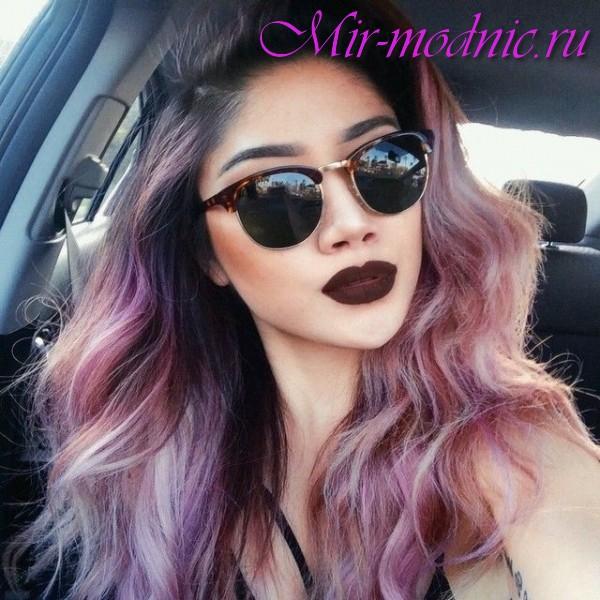 Модная покраска волос 2017 на средние волосы фото