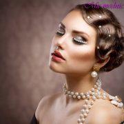 Макияж для серых глаз и русых волос фото
