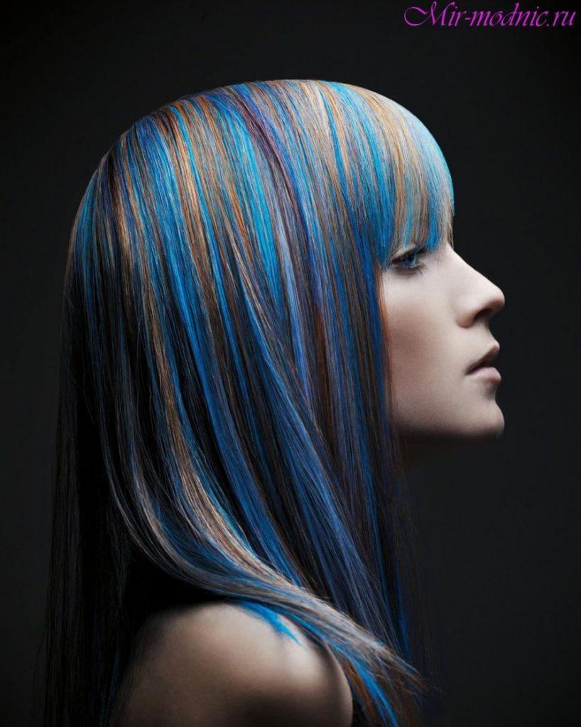 Как сделать пряди краской на волосах