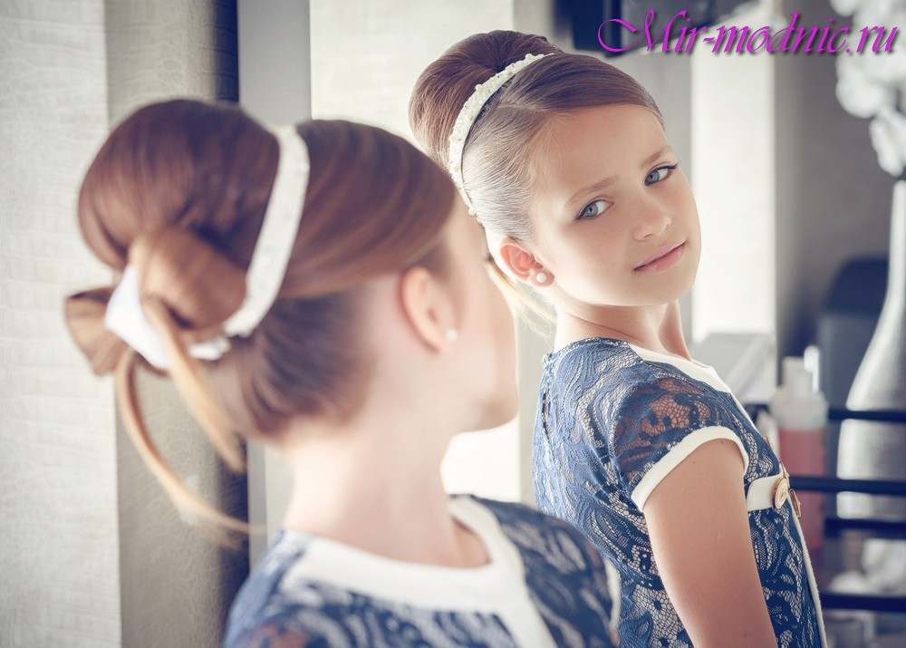 Модные прически для девочек 2017