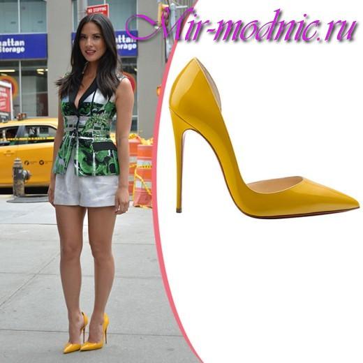 С чем носить желтые туфли