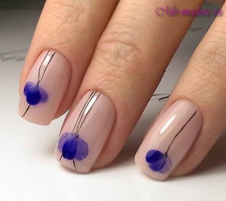 Дизайн ногтей 2017 с цветами