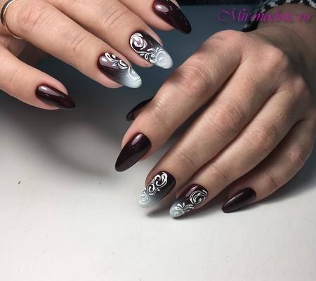 Дизайн на длинные ногти 2017-2018