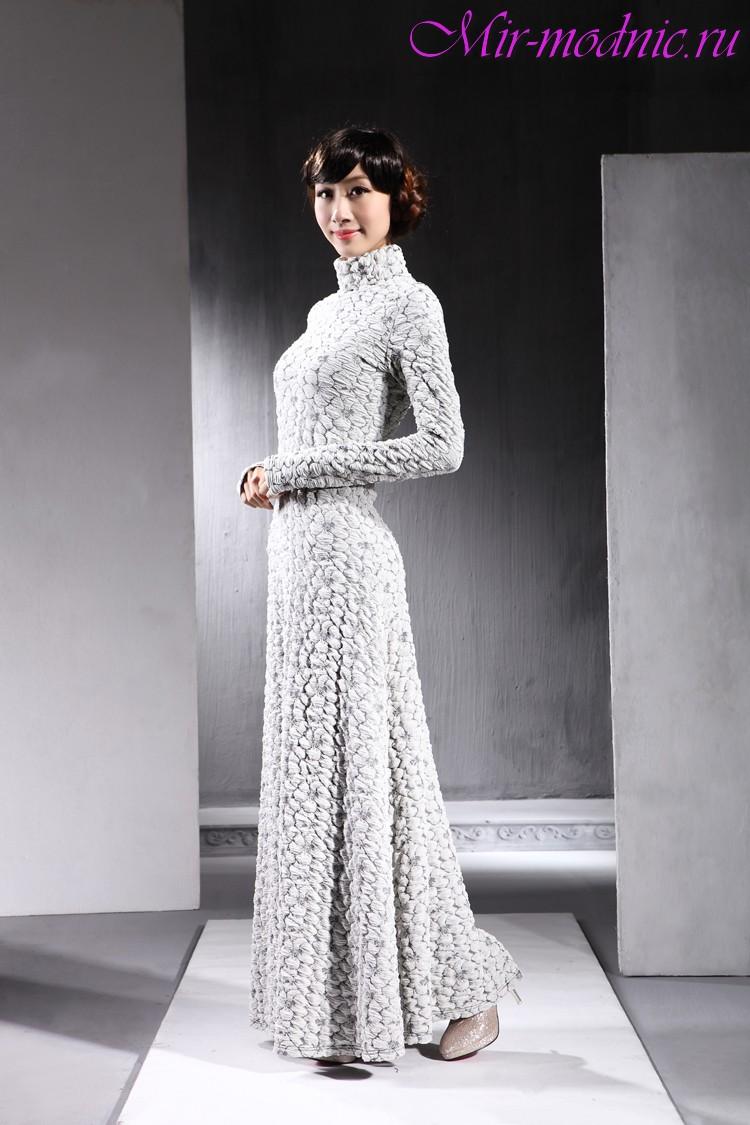 Купить Длинное Платье Осень Зима