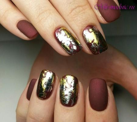 фото фольга на ногтях
